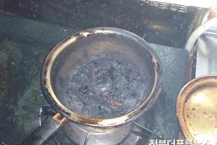 익산소방서, 공동주택 화재.. 가스레인지에 음식물 올려놓고 깜빡..